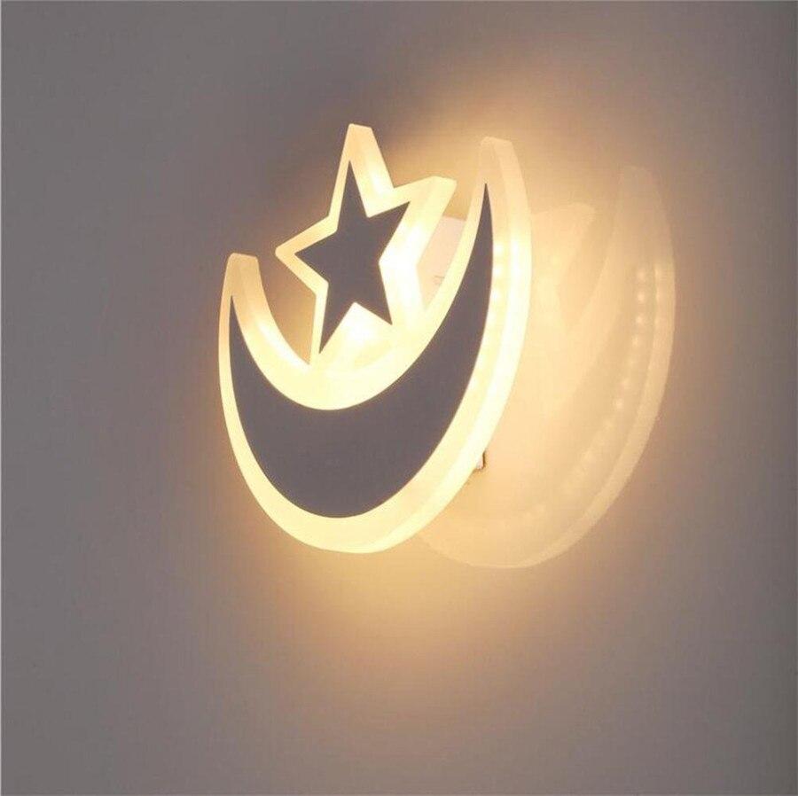 ZINUO 16 Вт светодиодный звезды и луна настенный светильник Акриловая светильники Светодиодный освещения AC85-265V белый или теплый белый Indoor дома...