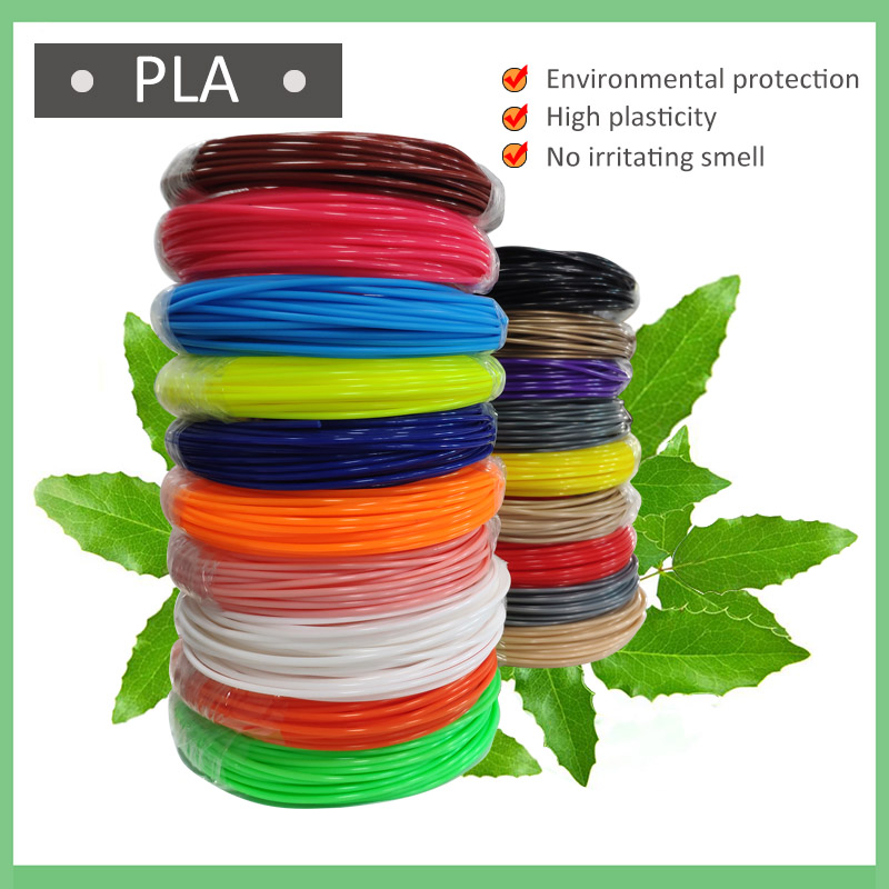 100 Meters 10 Colors PLA Filament For 3D Printing Pen 1.75MM Threads Plastic 3 D Printer Materials For Kid Drawing Toys(China)