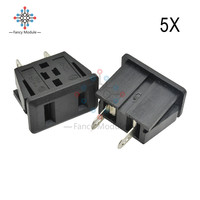 5 teile/los AC 125V 15A UNS Stecker Panel Mount UNS Outlet Steckdose 2 Terminal Adapter