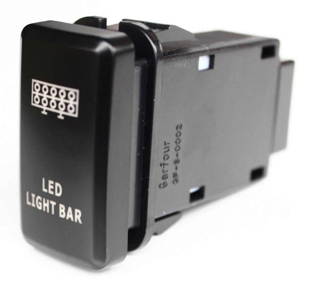 Blaue LED Auto Druckschalter Led-lichtleiste Für Toyota Prado ...