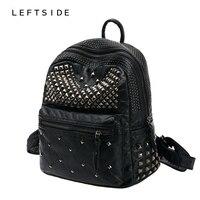 LEFTSIDE 2016 Women Waterproof PU Leather Rivet Backpack Women S Backpacks For Teenage Girls Ladies Bags