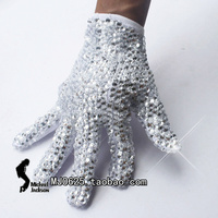 Rare Fashion Handmade Crystal Glove MJ Michael Jackson single side rhinestone collection For Billie Jean Collection