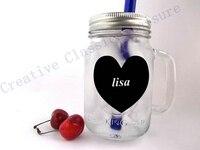 12 pieces/lot wedding chalkboard , Blank Heart Chalkboard Labels for your Wedding Mason Jars diy Valentine Party Favor idea