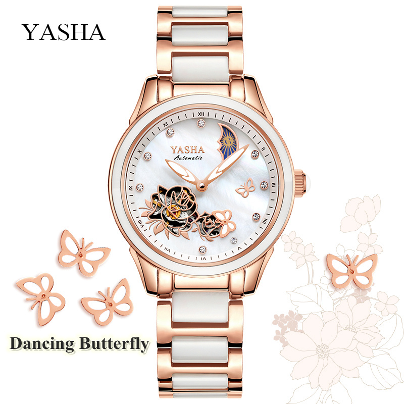 2018 Butterfly Ceramic Clock Dameshorloges Sapphire Crystal - Dameshorloges