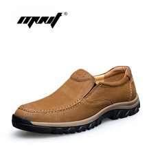 Los Hombres de Cuero de Grano completo Botas Más El Tamaño Retro de Primavera Y Otoño Botines Hechos A Mano Zapatos Al Aire Libre de Los Hombres