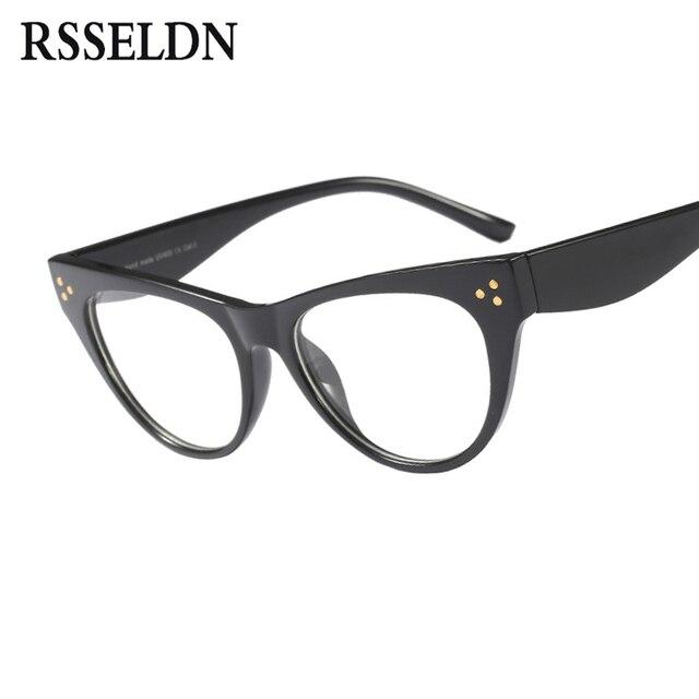 f27f0ec35fd RSSELDN Fashion Cat Eye Reading Eyeglasses Optical Glasses Frames 2019 New  Glasses Women Frame Ultra Light