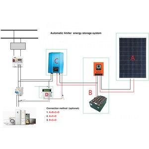 Image 4 - Inversor de rede com limitador, inversor de rede de 1200w com display lcd, modo de descarga de bateria, inversor de painel solar