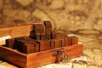 70 PCS Wooden Rubber Upper Lower Case Alphabet Letters Number Stamps Set Retro