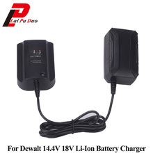 DCB140 Li ion Battery Charger For Dewalt 14.4V 18V DCB141 XJ DCB182 DCB200 DCB204 DCB183 DCB184 Batteria