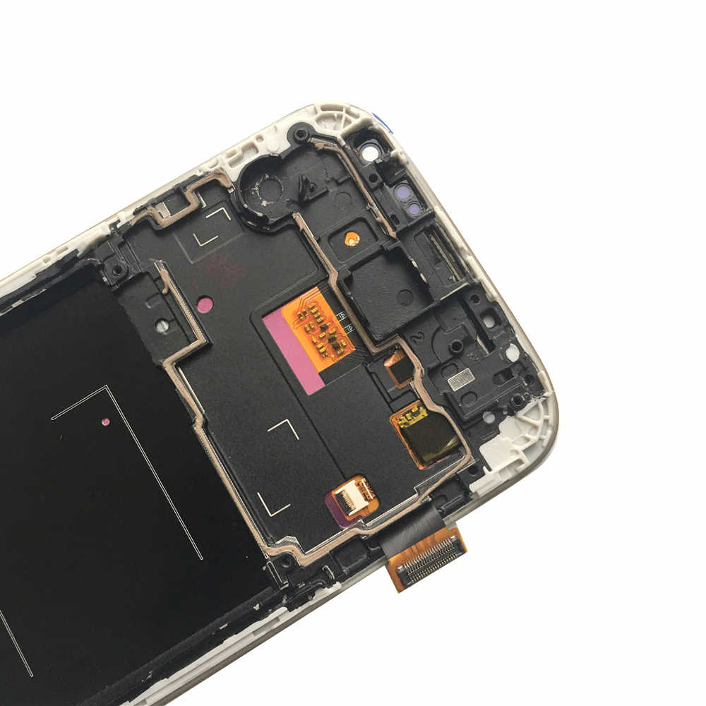 5.0 ''LCD S4 لسامسونج غالاكسي S4 شاشة الكريستال السائل مع الإطار GT-i9505 i9500 i9505 i9506 i9515 i337 محول الأرقام بشاشة تعمل بلمس
