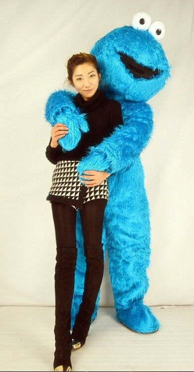 9ca0b1ef0d53 Sesame Street Blue Cookie Monster Mascot costume Fancy Dress Adult size  Halloween elmo mascot free shipping