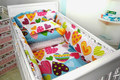 New baby bedding Set Material Cotton Comfortable Feeling Baby Bed Sets 5 pcs Sets 7 Size Free Shipping Baby Crib Bedding Sets