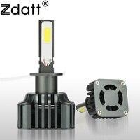 Zdatt 1 Pair Super Bright High Power Car H1 Led Headlights 12V 120W 12000LM High Beam