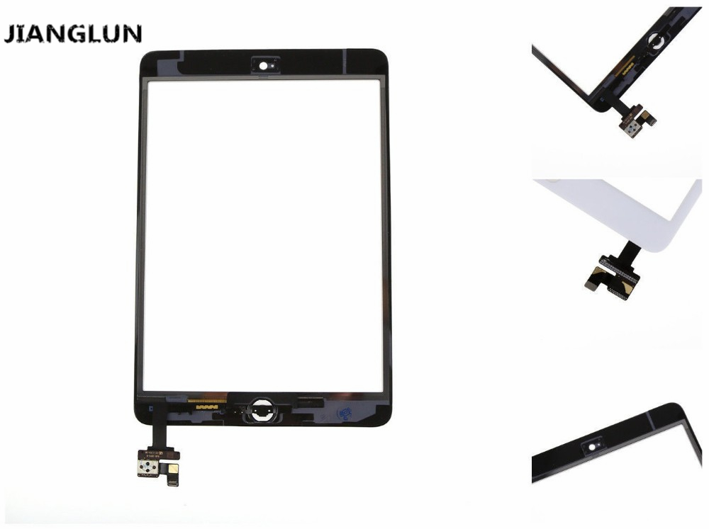 JIANGLUN A+ Touch Screen Glass Digitizer + IC Chip Flex Replacement  For iPad Mini White bqt replacement glsss screen for ipad mini1 mini2 touch screen digitizer without ic with tape parts 100