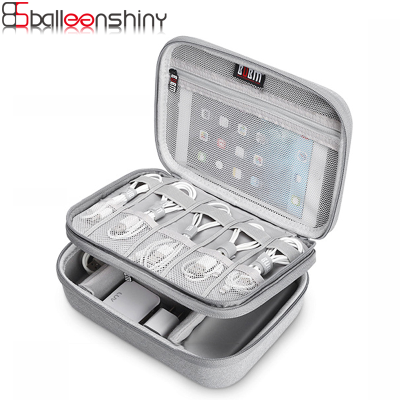 BalleenShiny Digital Storage Bag Multi-function Travel Data Cable Organize Bag Power Supply Data Line Travel Kit Case Pouch