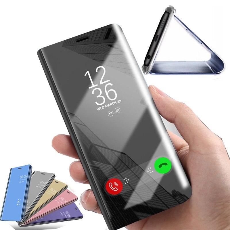Smart Flip Mirror Case For Xiaomi Redmi Note 5 6 Pro 4X 6A 5 Plus A1 A2 S2  8 SE Protective Case For MI Pocophone F1 Coque Capa