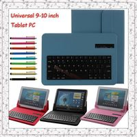 Luxury Colorful Universal Detachable Bluetooth ABS Keyboard With Leather Case Stand For Samsung Galaxy Tab Pro