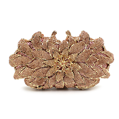 Women Gold Flower Hollow Out Crystal Evening Metal Clutches Small Minaudiere Handbag Purse Wedding Box blue Clutch hand BagWomen Gold Flower Hollow Out Crystal Evening Metal Clutches Small Minaudiere Handbag Purse Wedding Box blue Clutch hand Bag