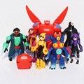 Gran héroe 6 figuras Baymax 8 unids/lote silicona llaveros colgantes 8 - 11 cm envío gratis