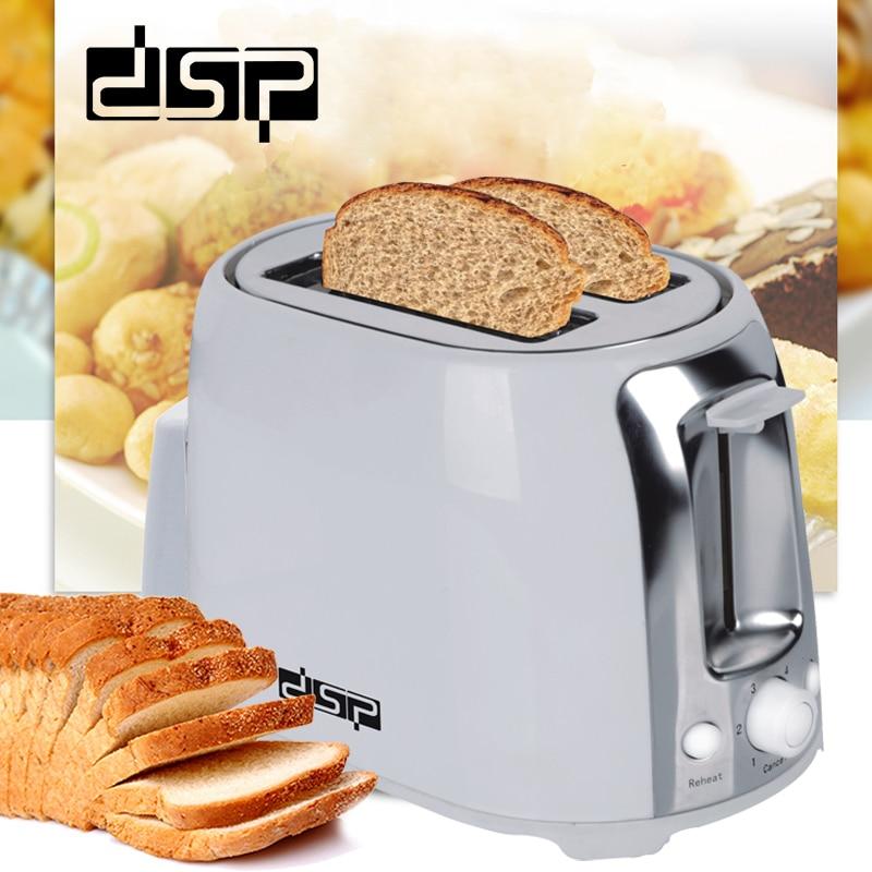 DSP KC2001 Toaster 750W Bread Maker 2 Slices Warm Stainless Steel LinerHousehold Bread Baking Machine  For Breakfast