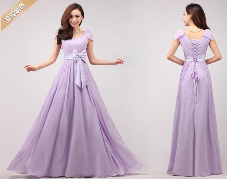 2017 new fashion purple long lace up bridesmaid dress bandage chiffon prom  dress-in Evening Dresses from Weddings   Events on Aliexpress.com  7b04e4680
