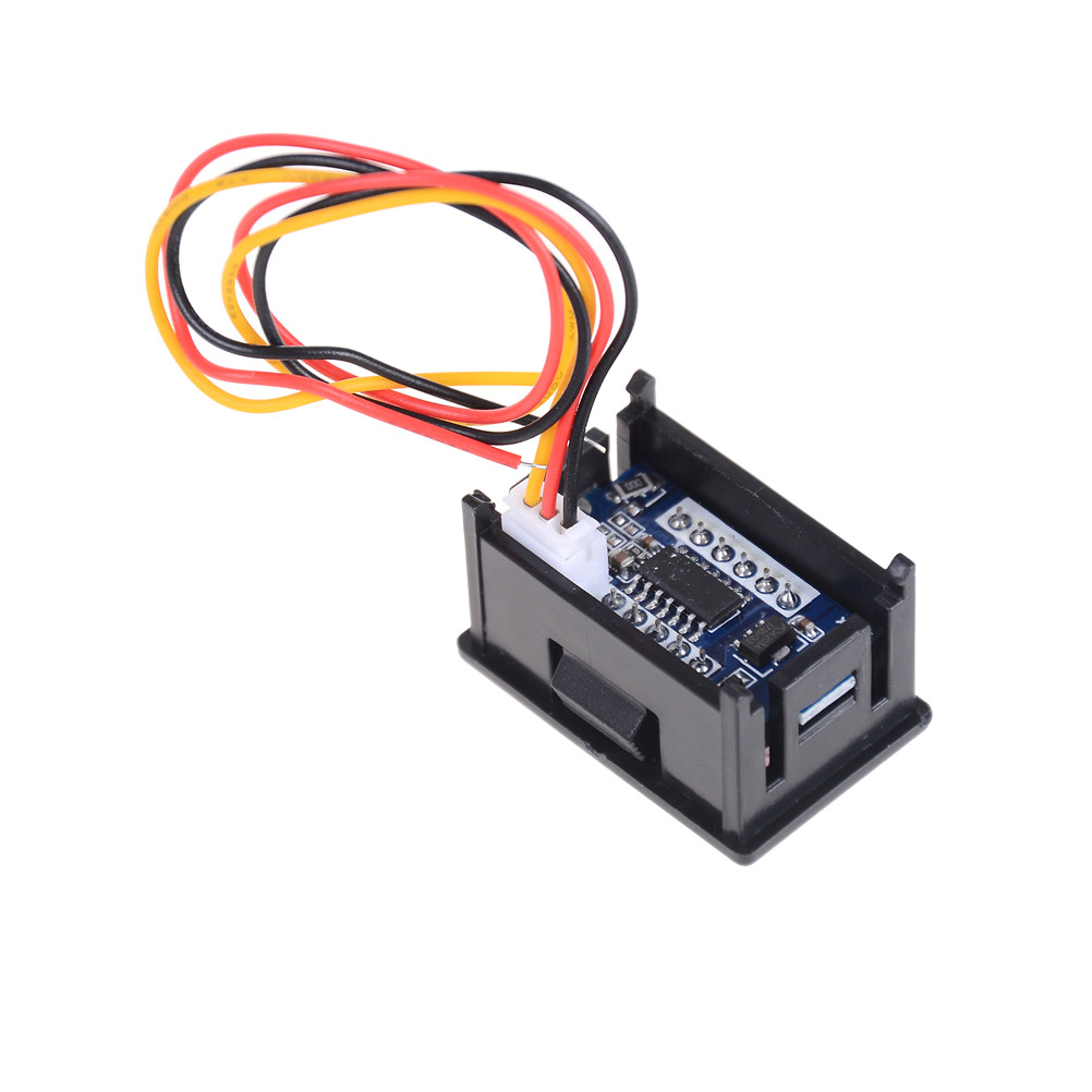 1set Digital Voltage Meter Led Display 3 Wires Dc 0 100v Detection Wire Voltmeter Wiring Of Tester For Auto Car Gauge In Meters From