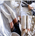 Autumn Winter Women Long Stockings Fashion Solid Knitting Women's Stockings