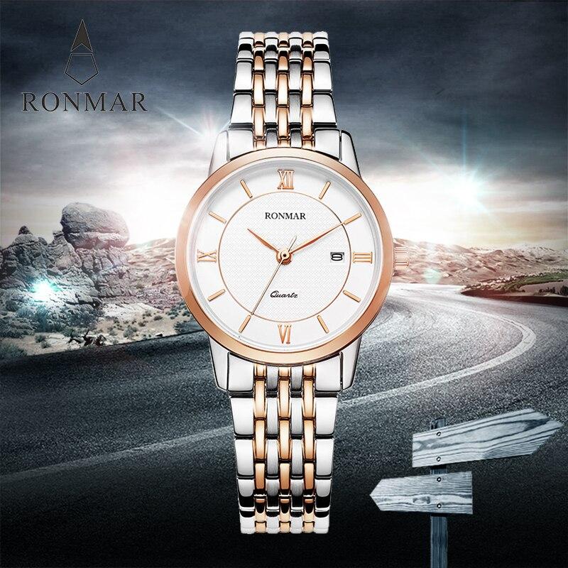 ФОТО New Fashion Stainless Steel Watch women Decoration RM8009L Luxury Women's Quartz Wristwatch Ladies Watch Relojes Mujer xfcs