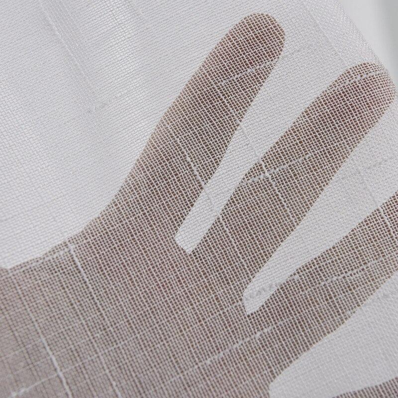 {byetee} 스터디 룸 / 거실 도어 용 단순한 흰색 Tulle / Gauze / Voile 커튼 Window Cortinas 주방 Sheer Curtain