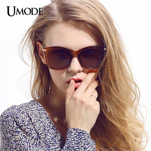 Umode 2015 Brown Red Frame Grey Lens Oversized Big Sunglasses Women  Sunglasses for Fashion Ladies Gafas Feminino Oculos SW0100 8dc2eb1177