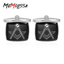 Memolissa Роскошные брендовые пуговицы для манжет Черные запонки