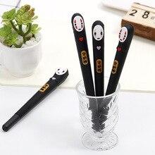 32 adet/grup japonya ruhların kaçışı yok yüz adam jel kalem sevimli 0.38mm siyah mürekkep nötr kalemler kırtasiye hediye okul yazma malzemeleri