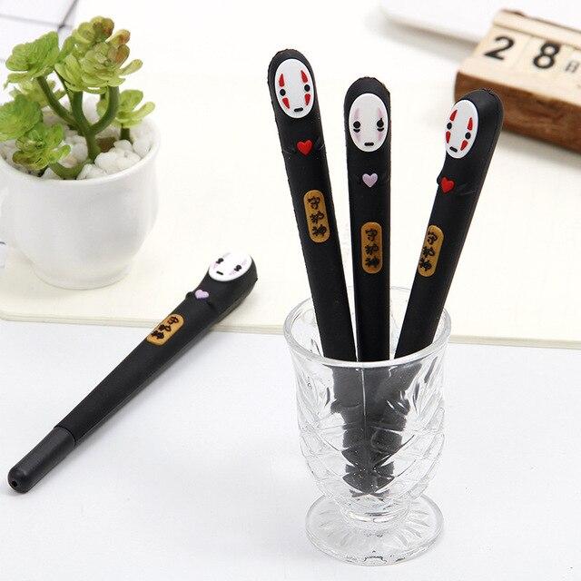 32 pz/lotto Giappone Spirited Away No Viso uomo della penna del gel Sveglio 0.38 millimetri inchiostro nero neutro penne Scuola Dono di cancelleria di scrittura Forniture
