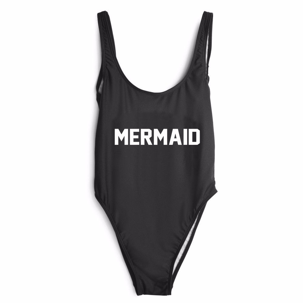 US SIZE MERMAID one piece swimwear Jumpsuit bodysuit girl Sexy low back swimsuits High Quality Summer Beachwear Bathing suit