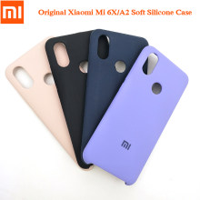 Xiaomi Mi 6X/A2 Official Liquid Silicone Soft Case Silky Smooth-Touch Finish Phone Back Cover For Mi 6x/a2 5.99 inch With Logo(China)