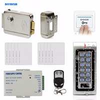 W1 DIY Complete RFID Access Control System Kit Set Electric Door Lock 10 RFID Cards Remote