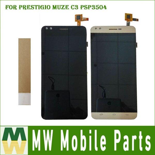 1 pc/lot Pour Prestigio Muze C3 PSP3504 PSP3504DUO Écran Tactile Et Lcd Écran Assemblée Avec Des Outils Noir Or Couleur avec