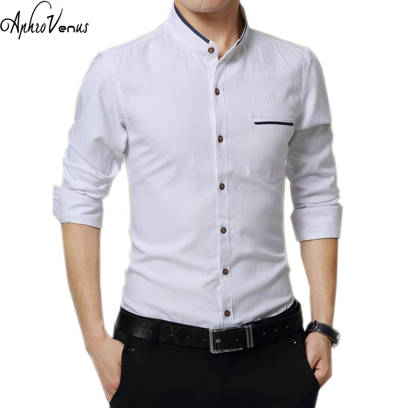 New brand shirt 2017 mens clothing autumn slim long sleeve for Latest shirts for mens 2017