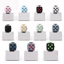 11color 3.3cm Fidget Cube Toy Vinyl Desk Finger Toys Squeeze Fun Stress Reliever Antistress Stress Cube Toys toys for children(China)