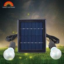 Солнечный свет 1/2 шт. лампа на солнечной батарее Солнечная энергия свет фонарь с питанием от солнечной панели для сада декор прочный для деревенского патио Внутренняя лампочка Светодиодная лампа
