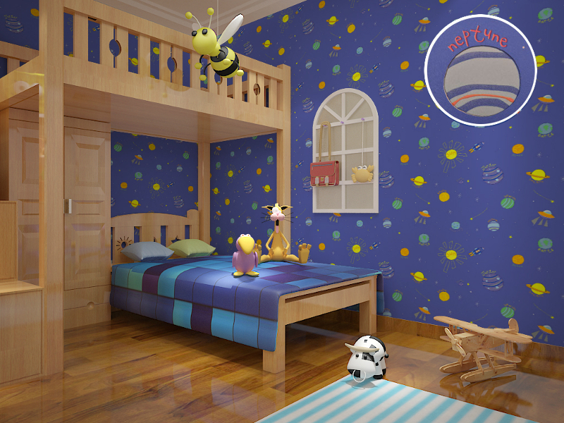 Cute Modern Planet Star Universe E Wallpaper For Kids Room Boys Nursery Decor In Wallpapers From Home Improvement On Aliexpress Alibaba Group
