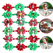 60pcs Christmas Pet Dog Bowties Snowman Old Man Accessories Wedding Bow Tie Neckties  Cat Holiday Grooming Supplies