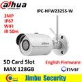 Dahua 3MP IPC-HFW2325S-W IR50M IP67 mini slot para Cartão SD câmera WI-FI de Rede Câmera IP WI-FI ao ar livre Câmera substituir IPC-HFW1320S-W