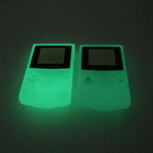 Image 3 - Plastic Luminous Housing Shell Fluorescent Case For GBC Gameboy Color Glow Blue Green Color Case Cover