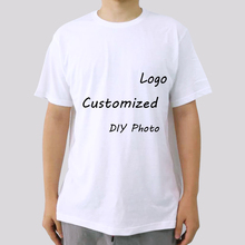 Summer Personality Customized Printed T Shirt for Men DIY Photo or Logo Plus Size S-3XL White Black Red Gray Tops Cotton Tees
