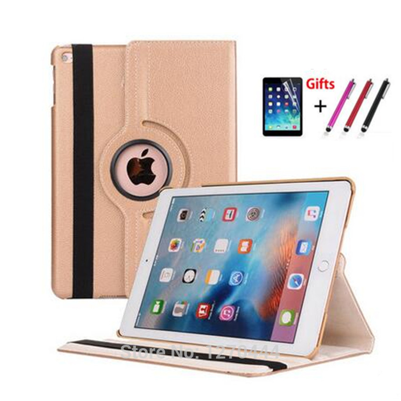 360 Degree Rotating PU Leather Smart Cover Case for Apple iPad Pro 9.7 inch 2016 Released for ipad air 2(With Auto Wake / Sleep) nice case for apple 2017 ipad air 1 new 2 cover 9 7 magnetic protect smart pu leather tpu silicone soft 360 rotating case cover