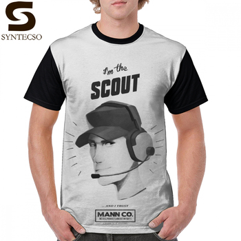 Team Fortress T Shirt I Am THE SCOUT - 2 T-Shirt Short Sleeve Plus size Graphic Tee Man 100 Polyester Tshirt