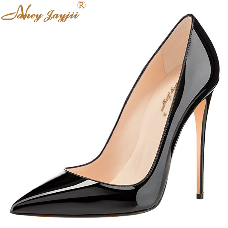 Red Bottom High Heels Pumps Stilettos So Kate 12cm 10cm <font><b>Sexy</b></font> <font><b>Shoes</b></font> <font><b>Woman</b></font> Black Nude Silver Evening Party Dress Classic Spring image