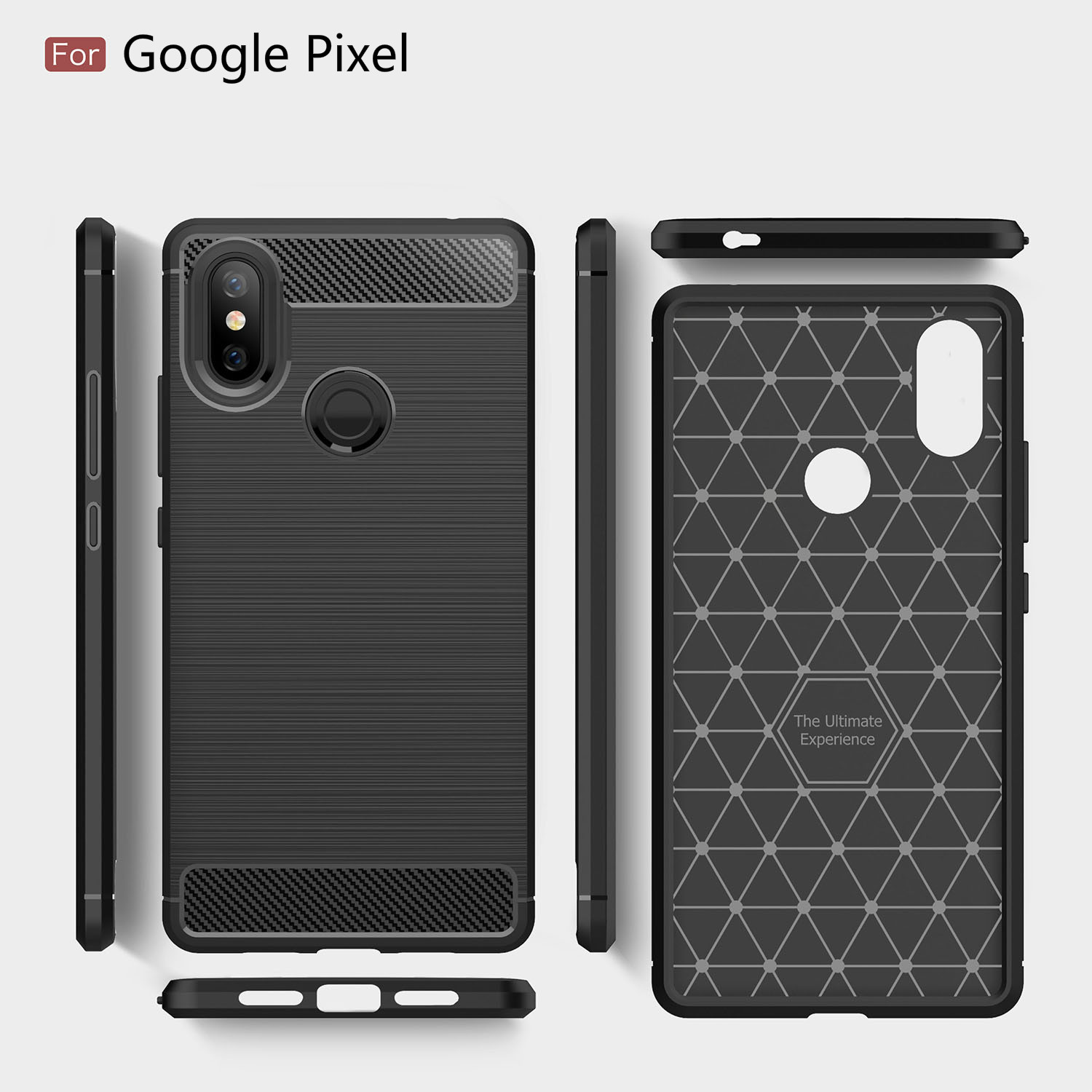 Carbon Fiber Soft TPU Shockproof Back Cover Case For Google Pixel 3XL 2XL XL Fsahion Protective Phone Case For Google Pixel 3 2