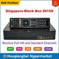 Compra a granel Cingapura HD TV Set Top Box Caixa Preta 2016 S atualização do qbox 5000 4 k c808 c608 com dongles wi-fi starhub
